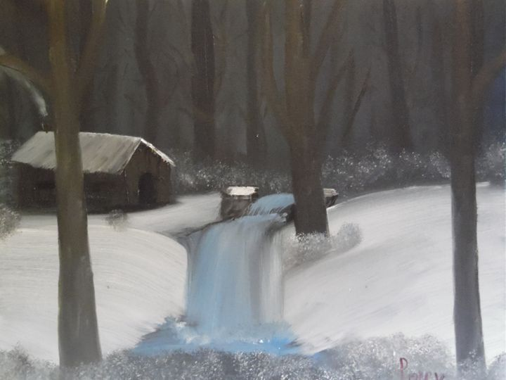 Winter Waterfall - Poppy