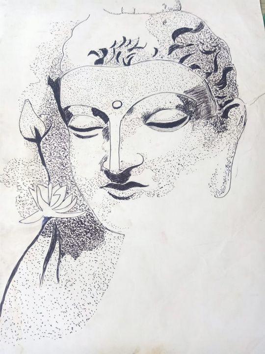 Pen dot budhha painting - Ganesh Art works