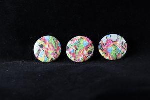 Rainbow Giraffe Pin Badges