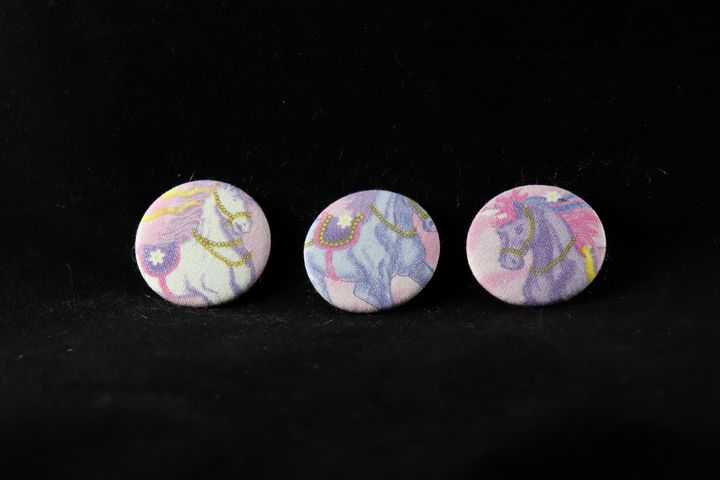 Unicorn Fabric Buttons - Alchemy Art