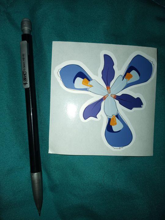 Purple Iris Sticker - Alchemy Art