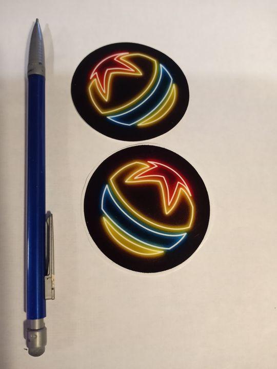 Pixar Ball Neon Sign Sticker - Alchemy Art