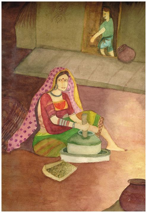 Traditional Artwork in Watercolor - Pooja's Art