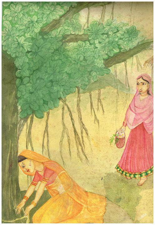 Artwork in watercolor - Pooja's Art