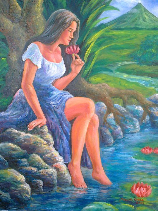 daragang magayon_2 (beautiful lady) - manuel cadag artworks