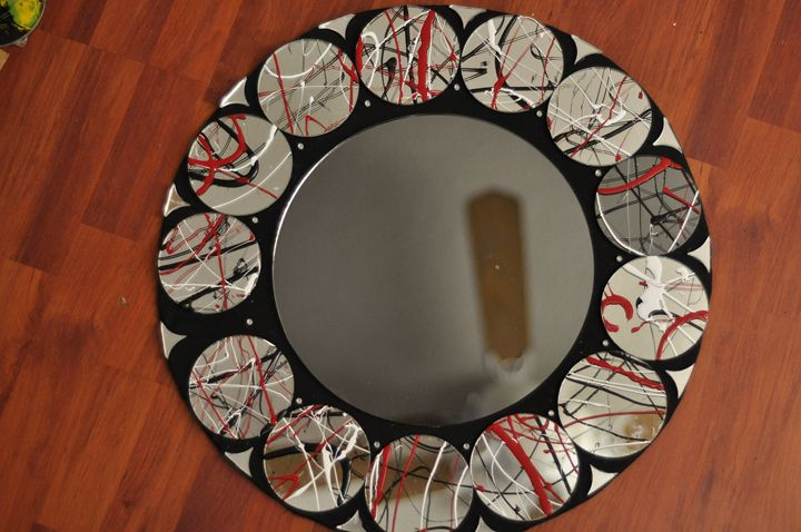 Red, Black, Grey, White - GLASS PAINT N MIRRORS