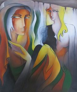 "2 Girls on Canvas ""Grey Series"""