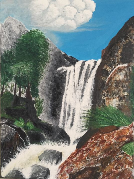 WATERFALL IN GRAN CANARIA - Joy of painting