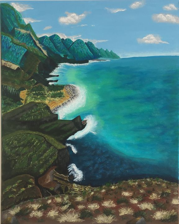 OCEAN AND ROCKS IN GRAN CANARIA - Joy of painting