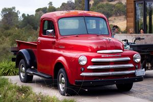 a red truck DODGE