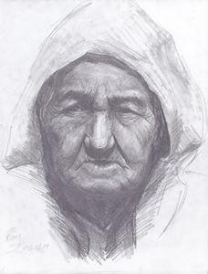 Tibetan old woman