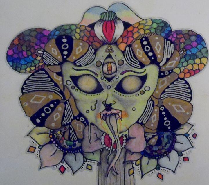 Spooky face - Nicole Burrell