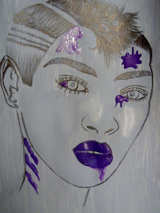 Splashed Purple - Nicole Burrell