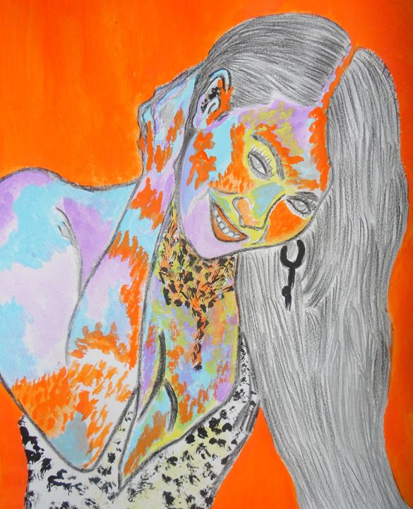 Beyonce Poured with Colors - Nicole Burrell