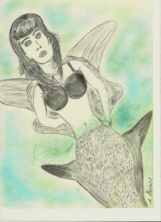 Floating mermaid - Nicole Burrell