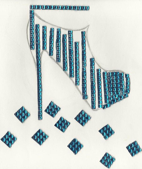 Studded High Heel Shoe - Nicole Burrell