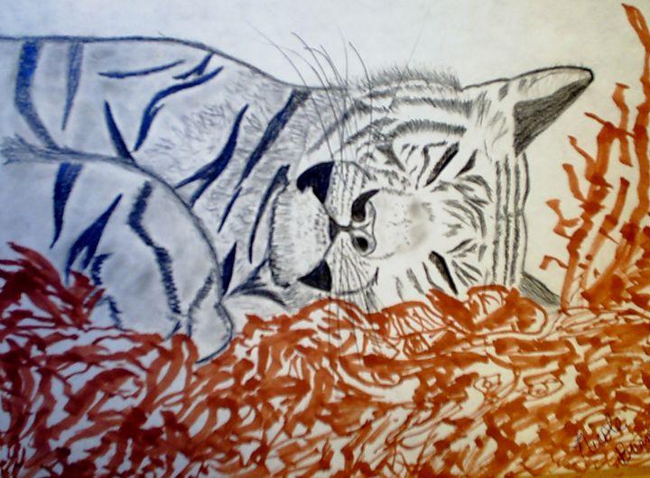 Sleepy tiger - Nicole Burrell