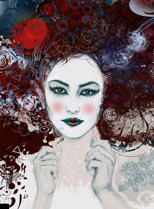 Geisha I - Hubert Fine Art