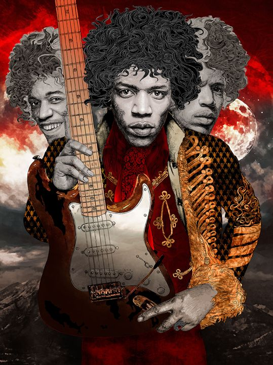 Jimi Hendrix Tribute - Hubert Fine Art