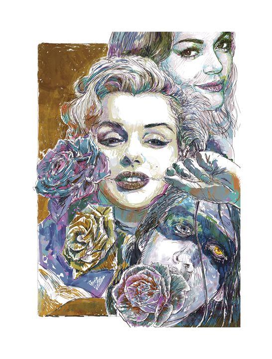 Roses for Marylin - Hubert Fine Art