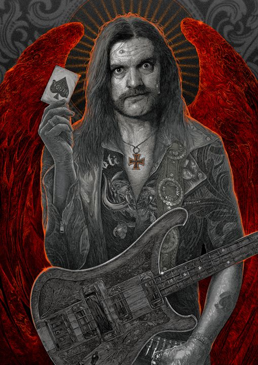 The Only Card I Need - Lemmy Tribute - Hubert Fine Art