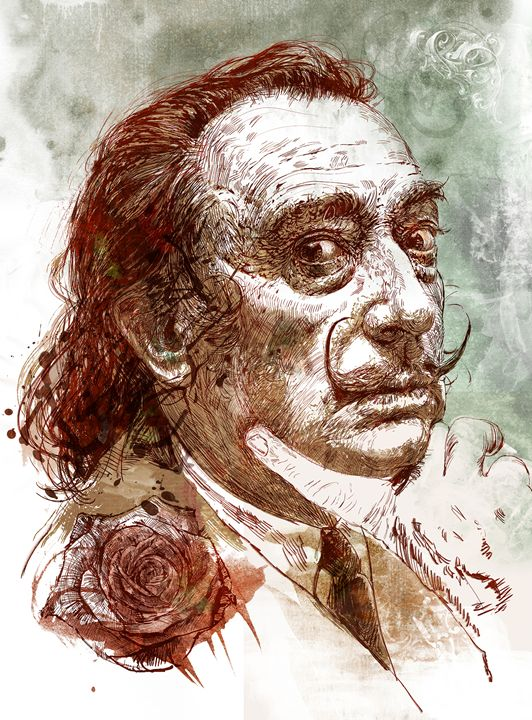 A Rose for Dali - Hubert Fine Art