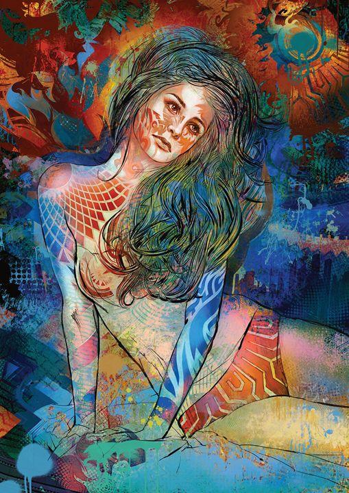 Graffiti Dreamer - Hubert Fine Art