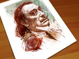 A Rose for Dali – giclee print on pa