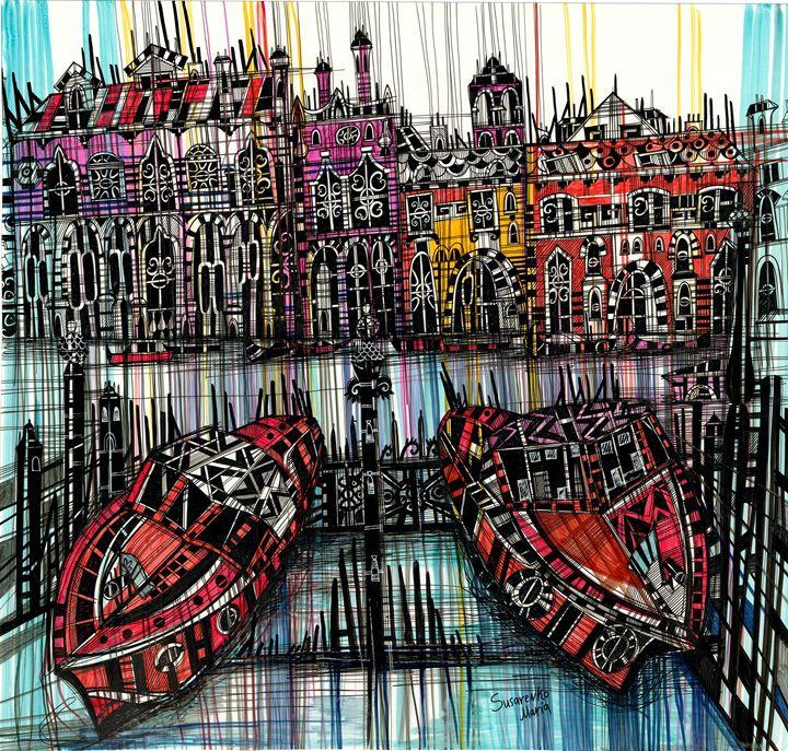 Amsterdam. Boats - Maria Susarenko