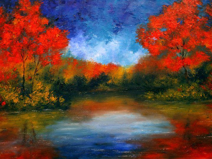 Crimson Reflection - Ken Brewer Art