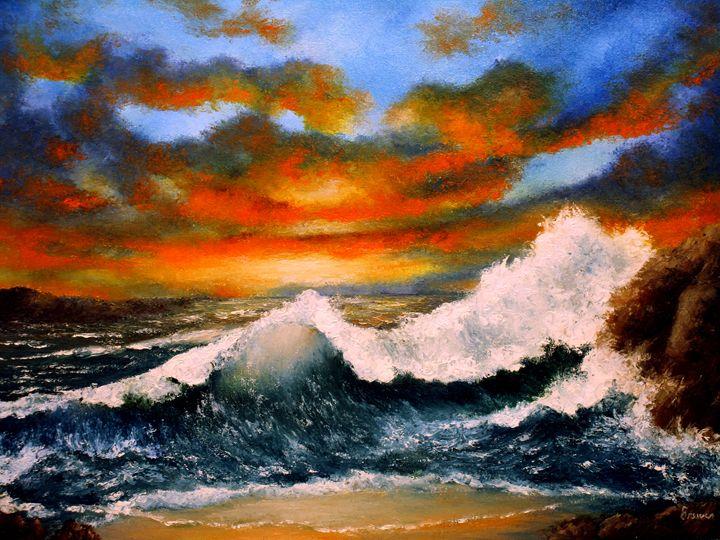 Wave Action - Ken Brewer Art