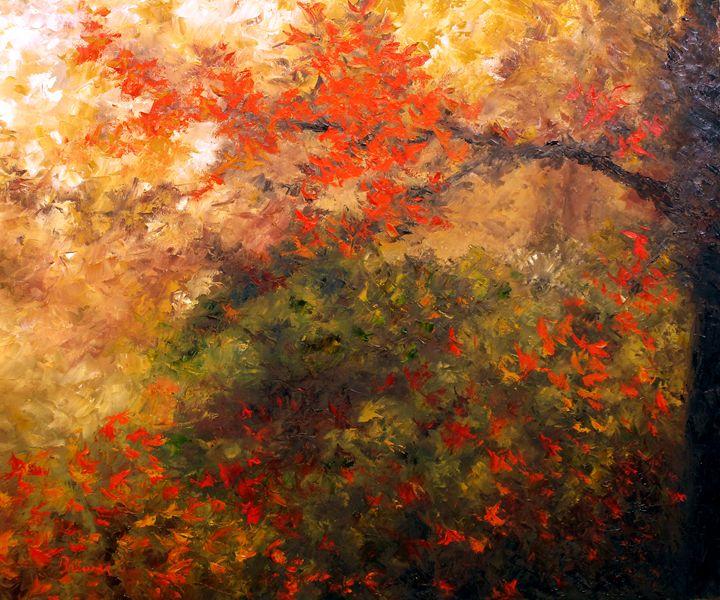 Autumn Branch - Ken Brewer Art