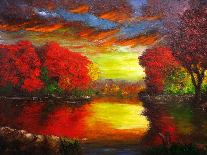 Crimson Reflections - Ken Brewer Art