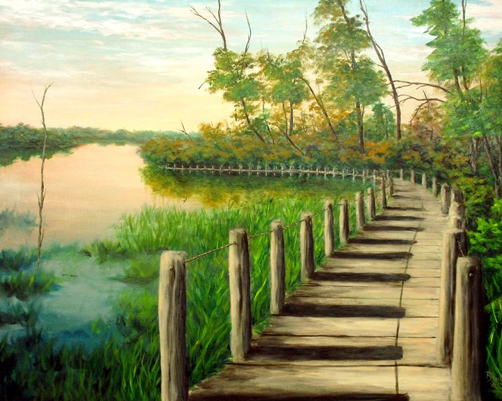 De Soto Boardwalk - Ken Brewer Art