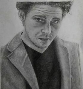 Joe Alwyn Graphite Drawing