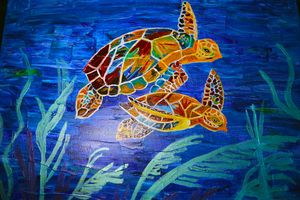 Colorful Sea Turtles