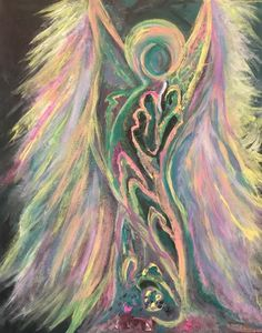 Sacred Angel - Jenn's Wall Art LLC