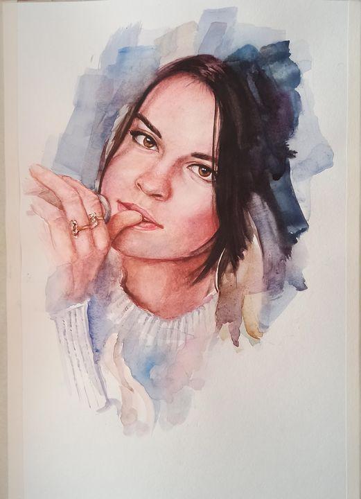 Portrait of Daughter - Yalpachek-Levy