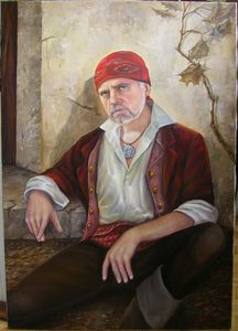 Self-portrait in the image of a pir