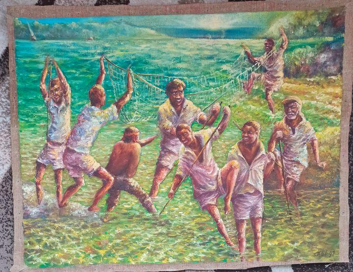 Bimini. Catchers in shallow water - Yalpachek-Levy