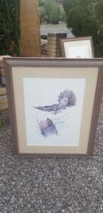 Grey Screech Owl - E. Darrell Smith originals signed