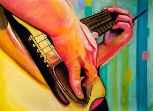 Hands Series #4 (Playing Guitar)