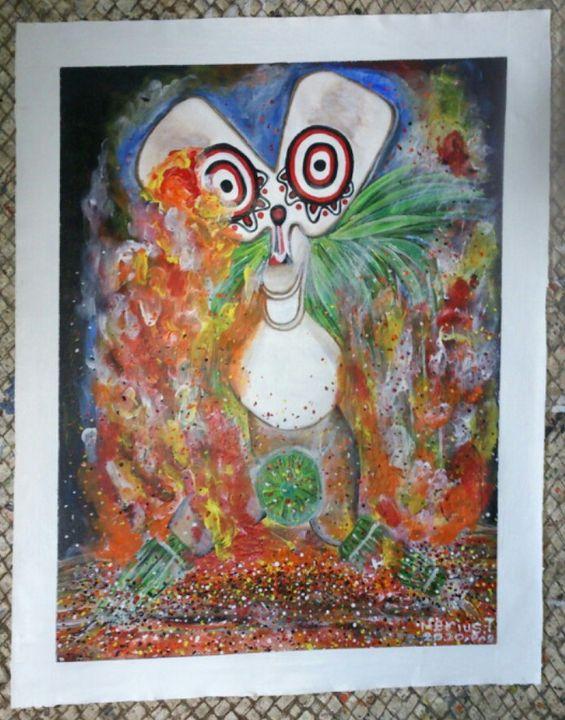 Baining Fire Dance Mask - Papua New Guinea Arts