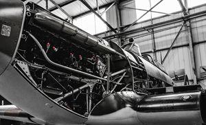 Spitfire being serviced