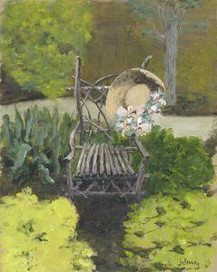 Garden Seat with Hat