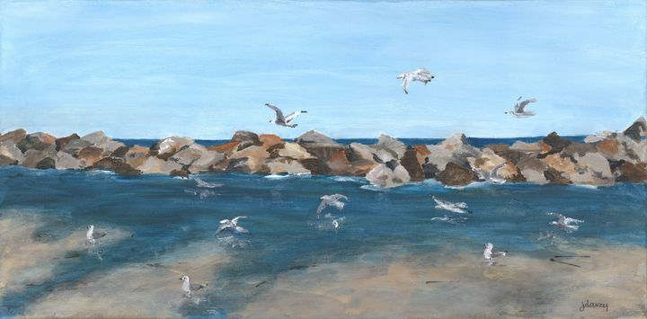 Hungry Gulls - Jan Darcy Art