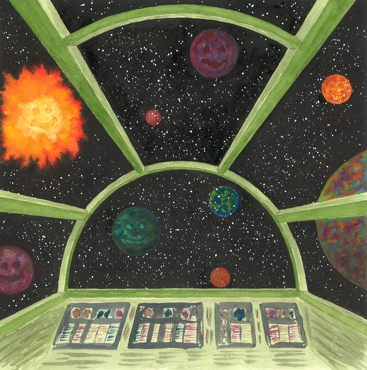 View from Cockpit of Space Ship - Kim Polinder