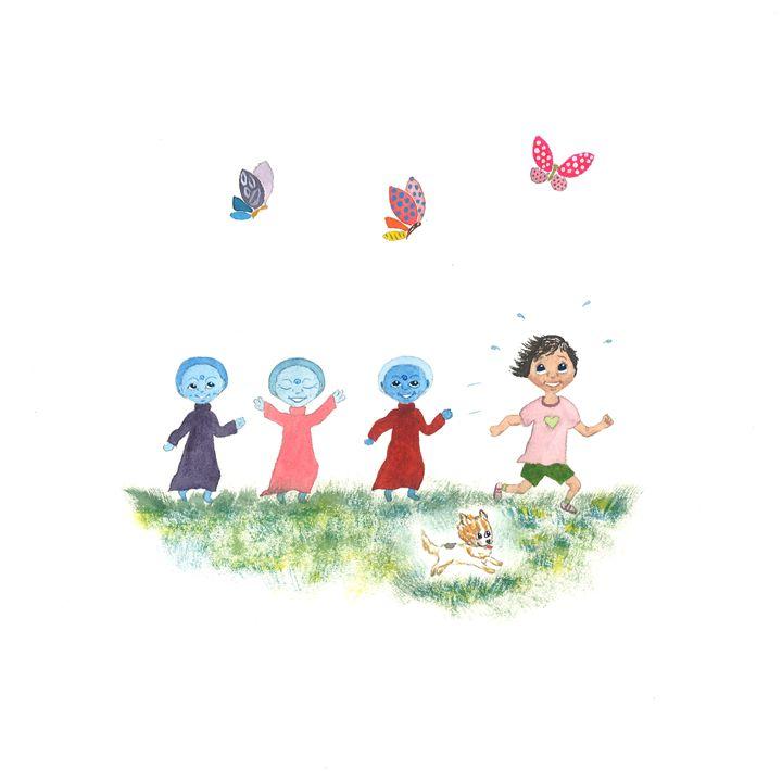 Zara Running with Children - Kim Polinder