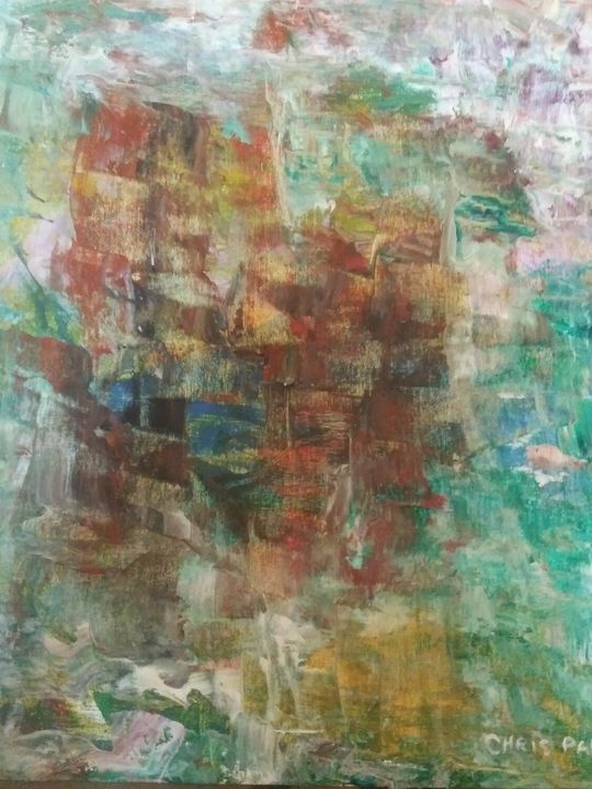 An abstract painting - Chris Pabon Contemporary Art Gallery