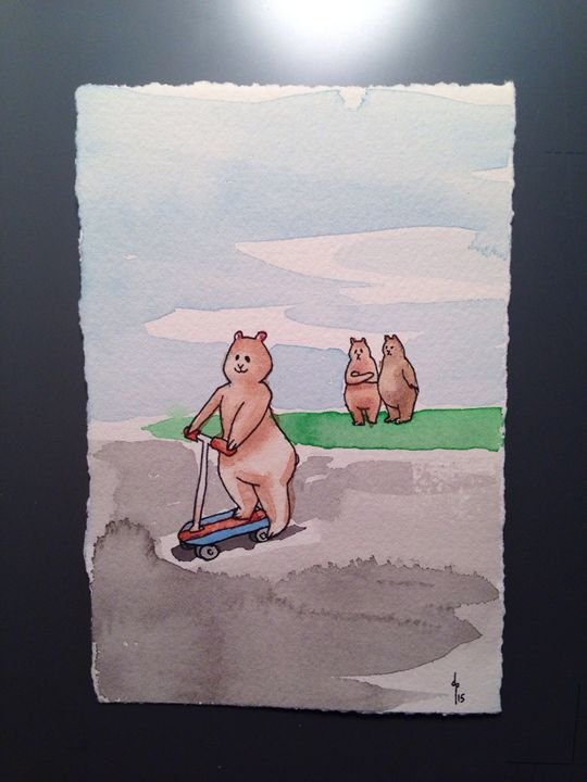 Scooter Bear - Dan Paul Roberts